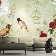 Fototapeta  Vintage birds