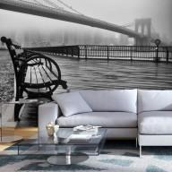 Fototapeta  A Foggy Day on the Brooklyn Bridge