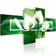Obraz  Zielone kalie