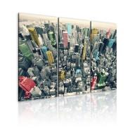 Obraz  Nowy Jork  czarnobiały, lecz w kolorze