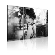 Obraz  Elegancka kobieta w stylu retro