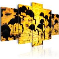 Obraz  Flamingi nad morzem