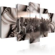 Obraz  Miasto ze stali