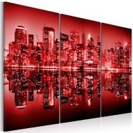 Obraz  NYC  Wielkie jabłko w ostrej czerwieni