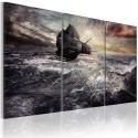 Obraz - Samotny statek na pełnym morzu