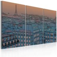 Obraz  Paryż  miasto idzie spać