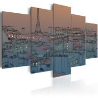 Obraz  Paryż  zapada zmrok