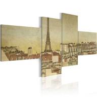 Obraz  Paryski szyk w wydaniu Retro
