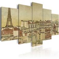 Obraz  Paryż poprzednich stuleci