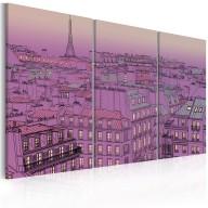 Obraz  Widok na Wieżę Eiffla w kolorze lila