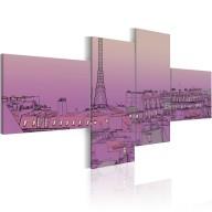 Obraz  Purpurowy Paryż