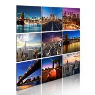 Obraz  Nowy Jork w dziewięciu odsłonach