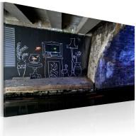 Obraz  Mój jest ten kawałek podłogi (Banksy)