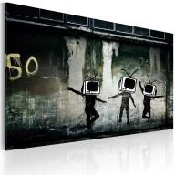 Obraz  Taniec telewizyjnych głów (Banksy)