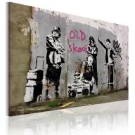 Obraz  Old school (Banksy)