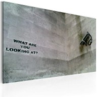 Obraz  Na co się patrzysz? (Banksy)