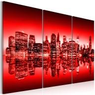 Obraz  Czerwona poświata nad Nowym Jorkiem
