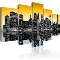 Obraz  NYC lustrzane odbicie  5 części