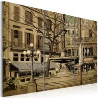 Obraz  Paryska fontanna w sepii