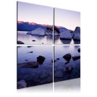 Obraz  Kamienisty brzeg alpejskiego jeziora