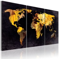 Obraz  Mapa świata  ruchome piaski