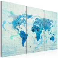 Obraz  Lądy i oceany  tryptyk