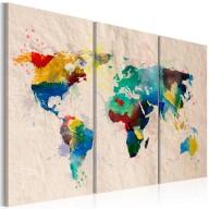 Obraz  Świat kolorów  tryptyk