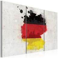 Obraz  Mapa Niemiec  tryptyk