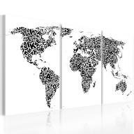 Obraz  Litery i kontynenty