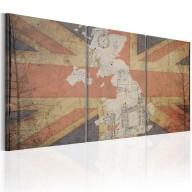 Obraz  Mapa Wielkiej Brytanii (Vintage)