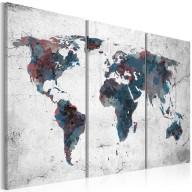 Obraz  Nieodkryte kontynenty  tryptyk