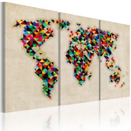 Obraz  Świat jak kalejdoskop  tryptyk