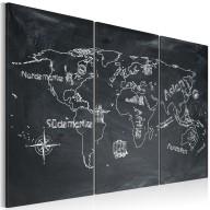 Obraz  Lekcja geografii (Język niemiecki)  tryptyk