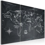 Obraz  Lekcja geografii (Język francuski)  tryptyk