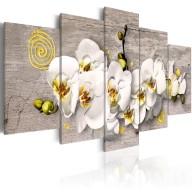 Obraz  Sunny orchids  5 pieces