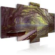 Obraz  Pejzaż, jezioro i drzewa