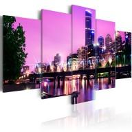 Obraz  Night urban city skyline  Melbourne