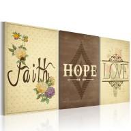Obraz  Faith, Hope & Love