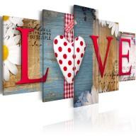 Obraz  LOVE  handmade