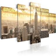 Obraz  Manhattan, Queens, Bronx, Central Park ...