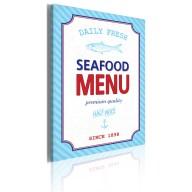 Obraz  Seafood menu