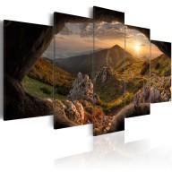 Obraz  Zachód słońca w dolinie