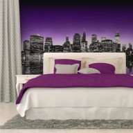 Fototapeta  The Big Apple in purple color