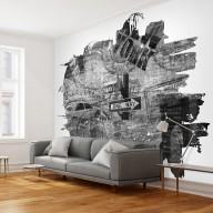Fototapeta  Blackandwhite New York collage