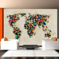 Fototapeta  World Map  a kaleidoscope of colors