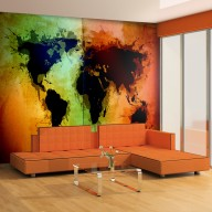 Fototapeta  Czarne kontynenty, kolorowe oceany...