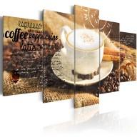 Obraz  Coffe, Espresso, Cappuccino, Latte machiato ...