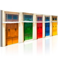 Obraz  Kolorowe drzwi