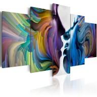 Obraz  Pocałunek kolorów