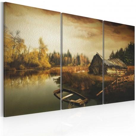 Obraz  Idyllic village  triptych